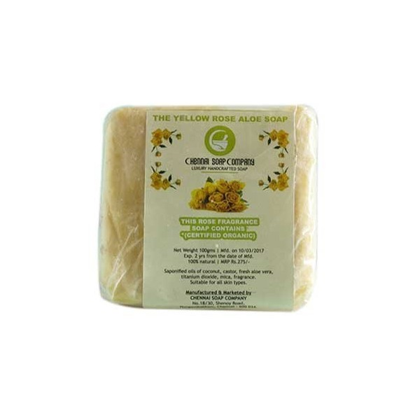 Chennai Soap Yellow Rose Aloe Soap