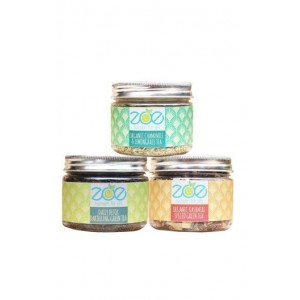 Zoe- Terrific Trio Organic Tea Jars- Herbal & Natural