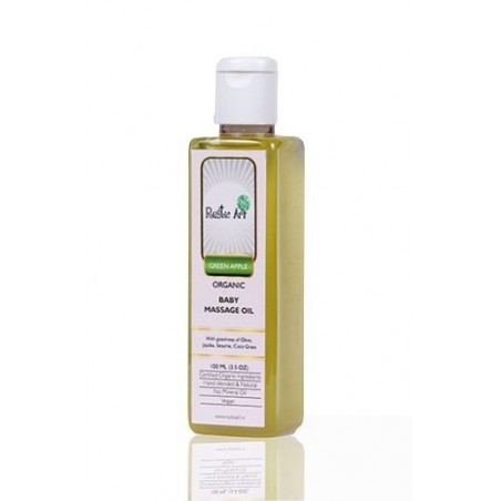 Rustic Art - Organic Baby Oil - Green Apple (100 Ml )