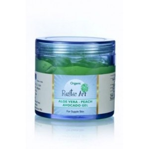 Rustic Art Organic Aloe Vera Peach & Avocado Gel (100 Gms)