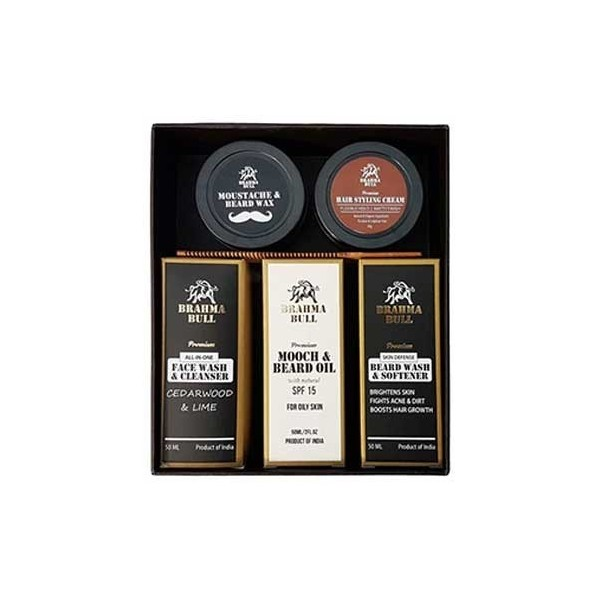 Brahma Bull The Great Beard Pack (Oily Skin)