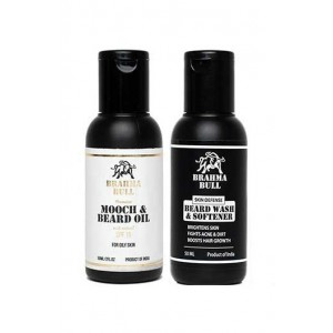 Brahma Bull Beard Combo For Oily Skin (Oil & Wash)