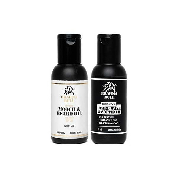 Brahma Bull Beard Combo For Dry Skin (Oil & Wash)
