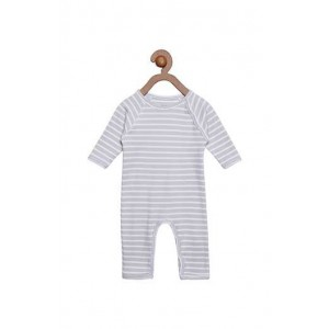 Berrytree Organic Romper Grey Stipes