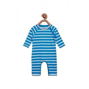 Berrytree Organic Romper Blue/White Stripes