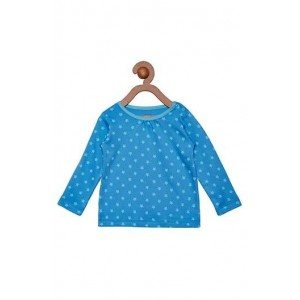 Berrytree Organic Full Sleeves Frock Blue Star