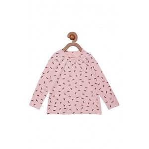 Berrytree Organic Full Sleeves Frock Pink Rabbit