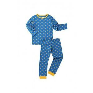 Berrytree Organic Full Sleeves Night Suit Yellow Star