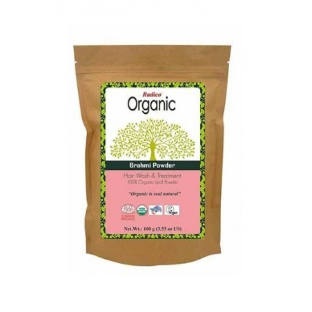 Radico- Organic Brahmi Powder- 100Gms- For Hair Wash & Treatment