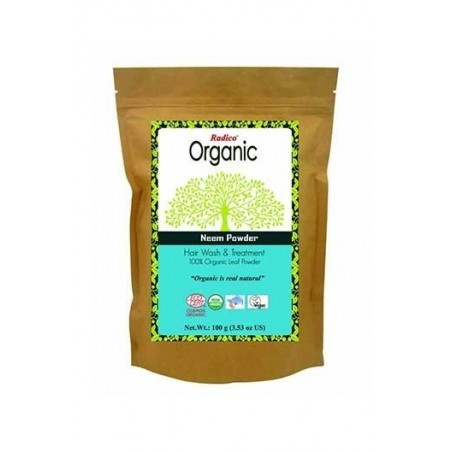 Radico- 100% Organic Neem Powder- 100Gms- For Hair Wash & Treatment