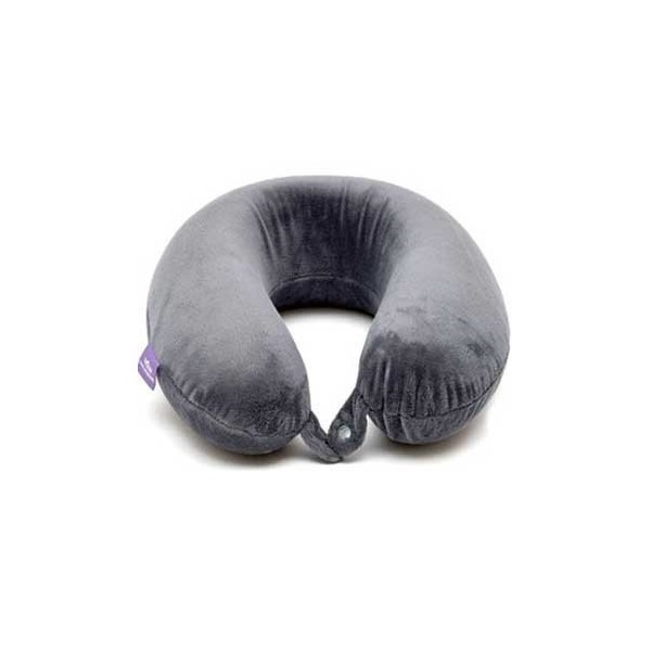 Viaggi Memory Foam Travel Neck Pillow (Grey)
