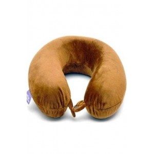 Viaggi U Shaped Memory Foam Neck Pillow (Brown)