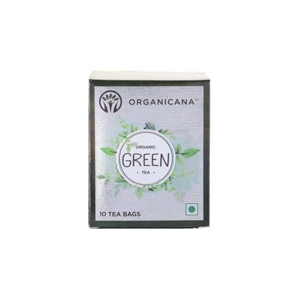 Organicana- Organic Green Tea Teabags- Ginger (5 Packs X 10)