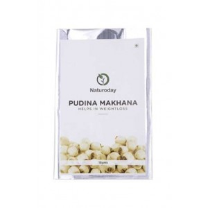 Naturoday -Pudina Makhana- Healthy Snack For Weightloss (Pack Of 20- 360 Gms)