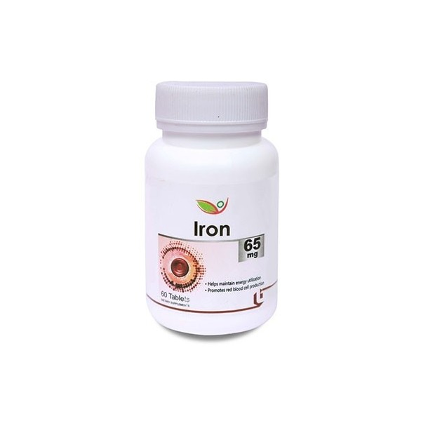 Biotrex Iron Ferrous Fumarate 65Mg (60 Tablets)