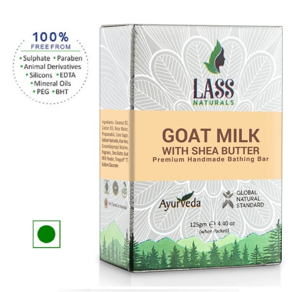 Lass Naturals Goat Milk With Shea Butter Soap