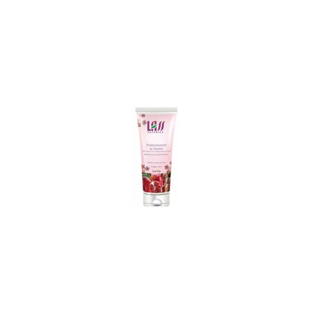 Lass Naturals Pomegranate & Grapes Face Wash With Scrub