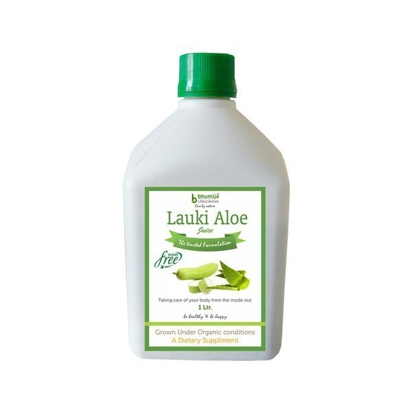 Bhumija Lifesciences Lauki Aloevera Juice (Sugar Free) 1 Ltr