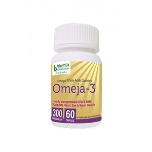 Bhumija Lifesciences Omega3 Fatty Acids (Omeja3) Capsules 60