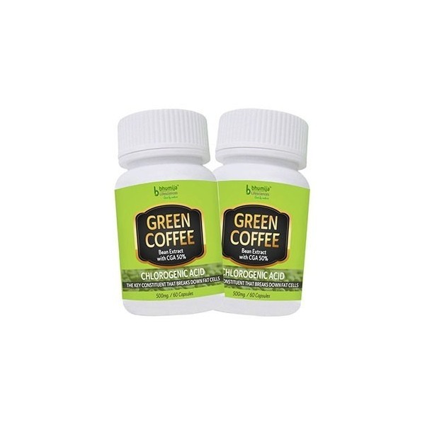 Bhumija Lifesciences Green Coffee Capsules 60 (Two Pack)