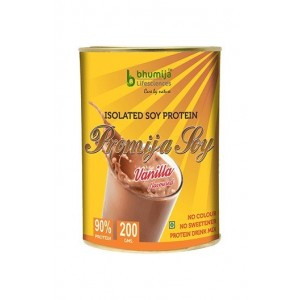 Bhumija Lifesciences Soy Protein Isolated 90% (Bhumi Pro) 200G. Vanilla