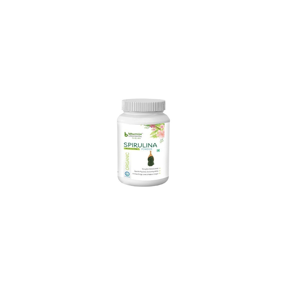 Bhumija Lifesciences Organic Spirulina Powder - 200 Grams