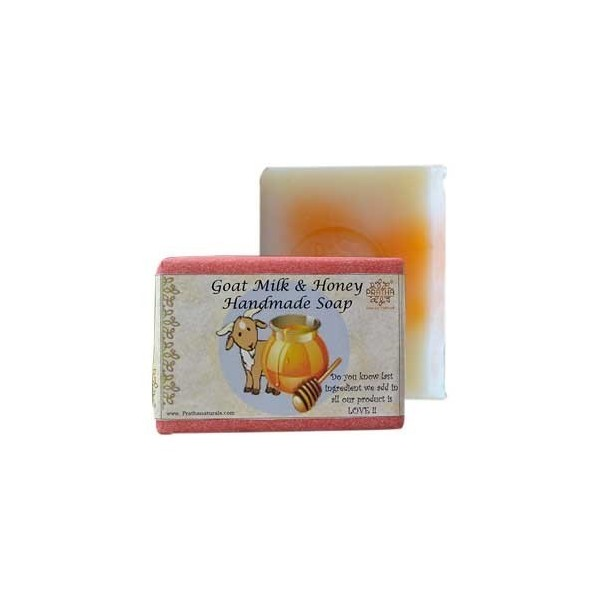 Pratha Naturals Goat Milk & Honey Handmade Soap