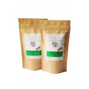 Teagraft Ginger Green Tea , Loose Whole Leaf Tea 50 Gm - Pack Of 2
