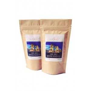Teagraft Earl Grey Imperial Black Tea, Loose Whole Leaf Tea 50 Gm - Pack Of 2