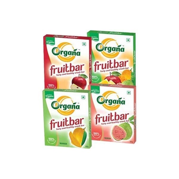 Organa Assorted Organic Fruit Snack Bars (Pack Of 8)