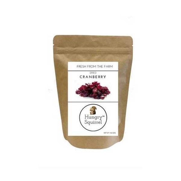 Hungry Squirrel -Dried Cranberry- Healthy & Nutritional Snack Pack 150Gm