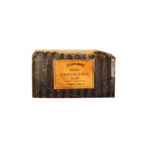 A2 Naturals Organic Charcoal & Rose Exfoliating Soap