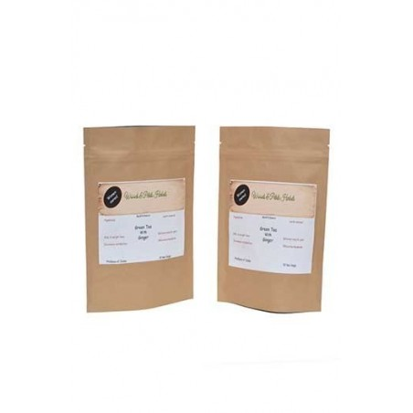 Woods And Petals- Green Tea With Ginger- Set Of 2