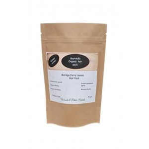 Woods And Petals- Organic Moringa & Curry Leaves Hair Pack- 75Gms