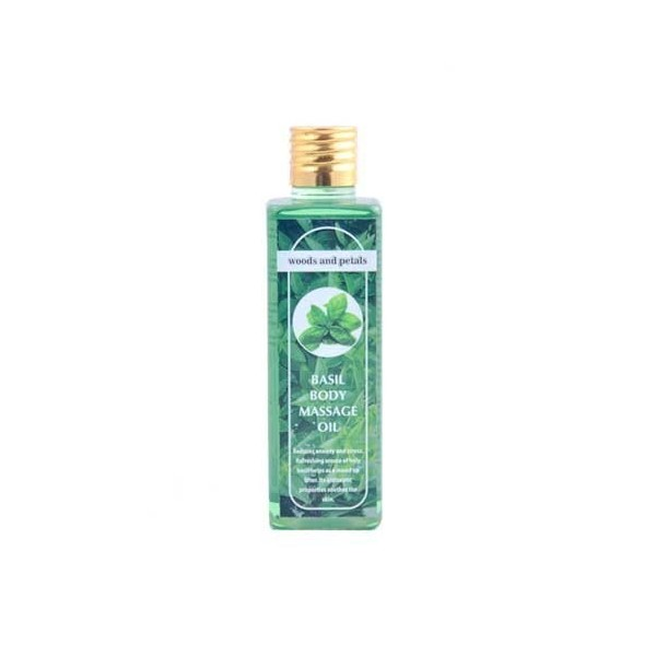 Woods And Petals- Basil Body Massage Oil- 100Ml