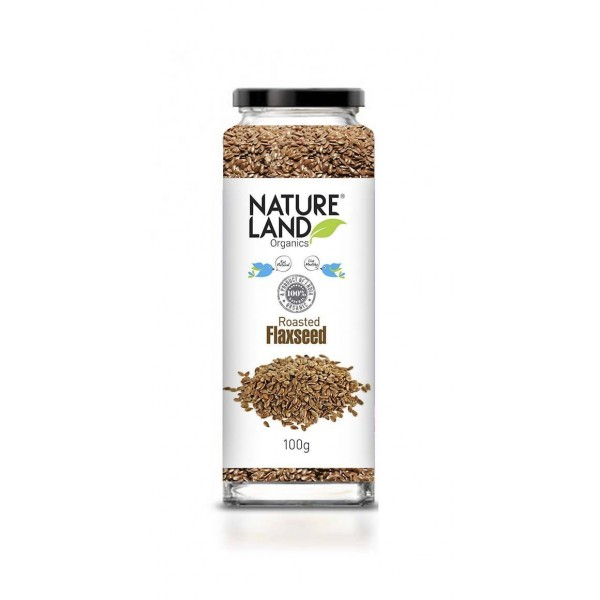 Natureland Organics Roasted Flaxseed 100 Gm