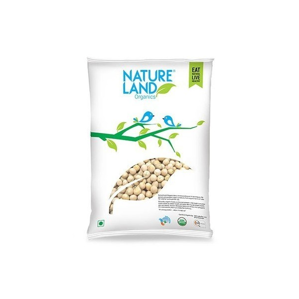 Natureland Organics White Peas 500 Gm