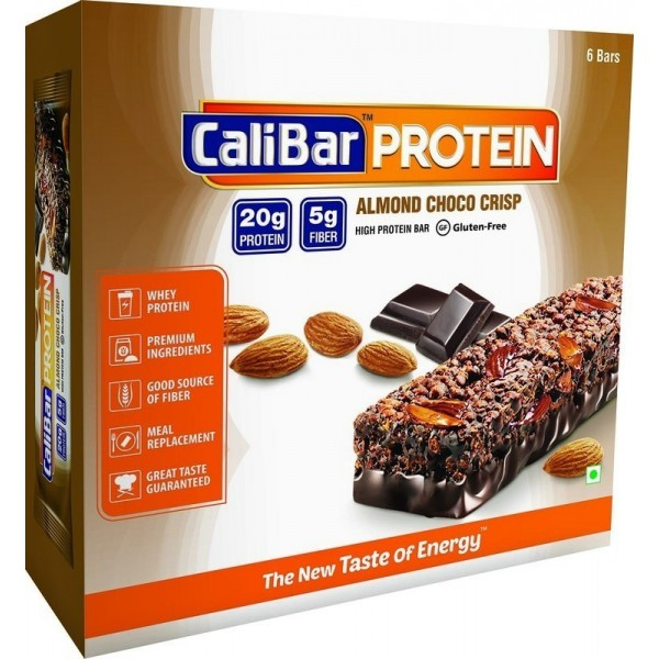 Calibar Protein Bar (Meal Replacement Bar)-Almond Choco Crisp