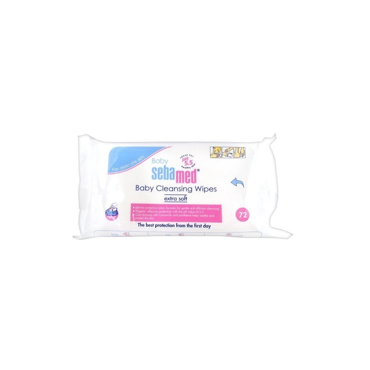 Sebamed Baby Cleansing Wipes Extra Soft 72 Pcs