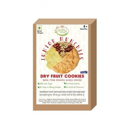 Early Foods- 100% Organic Dry Fruit Cookies- Baby And Kids Snack