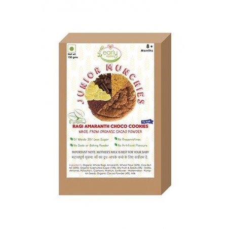 Early Foods- 100% Organic Ragi Choco Cookies - Baby And Kids Snack
