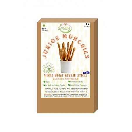 Early Foods- 100% Organic Whole Wheat Ajwain Sticks - Baby And Kids Snack