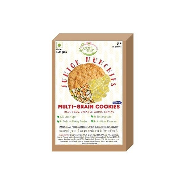 Early Foods- 100% Organic Multi-Grain Millet Cookies- Baby And Kids Snack- 8 Months+