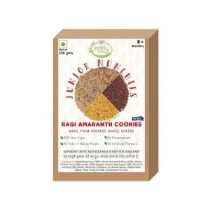 Early Foods- 100% Organic Ragi And Amaranth Cookies- Baby And Kids Snack- 8 Months +