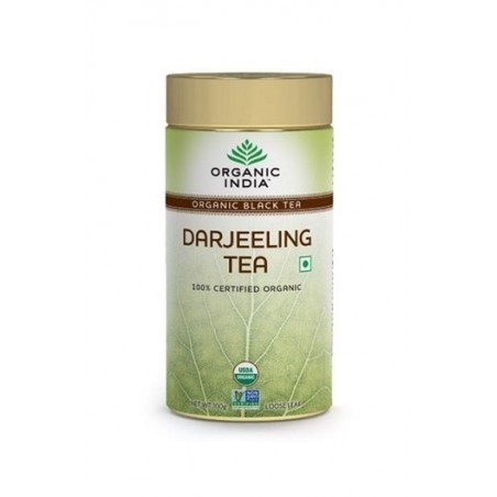 Organic India Darjeeling Tea 100 Gm Tin