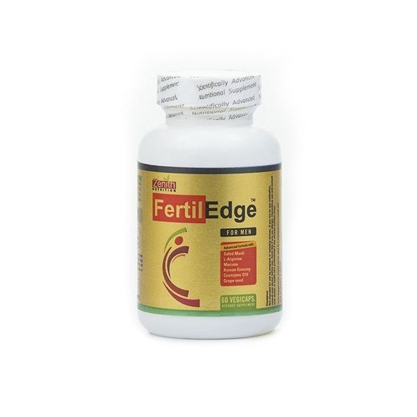 Zenith Nutrition Fertil Edge For Men- To Promote Fertility- 60 Veg Capsules