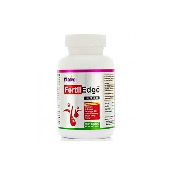 Zenith Nutrition Fertil Edge For Women- To Promote Fertility- 60 Veg Capsules