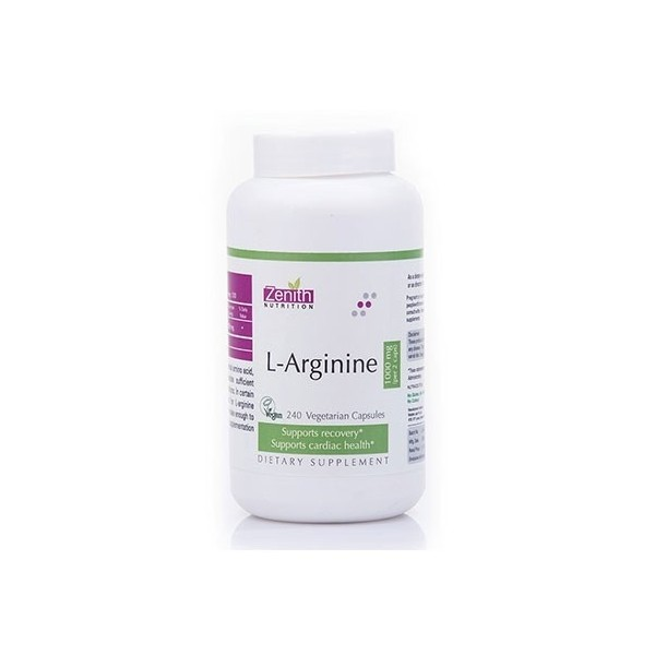 Zenith Nutrition- L-Arginine- 1000Mg - Supporting Good Heart Health - 240 Capsules