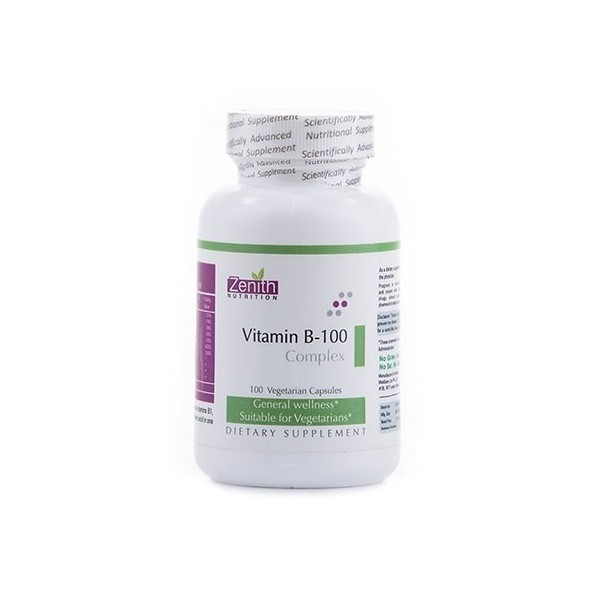 Zenith Nutrition Vitamin B-100 Complex- For Overall Wellness