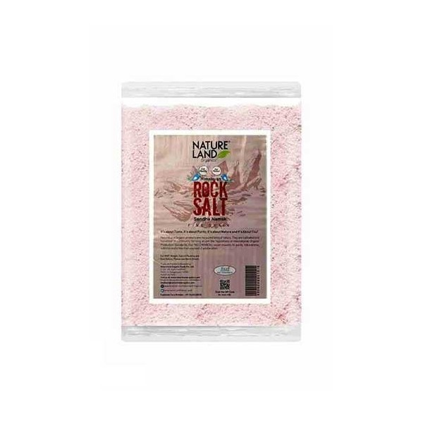 Natureland Organics Himalayan Pink Rock Salt 500 Gm